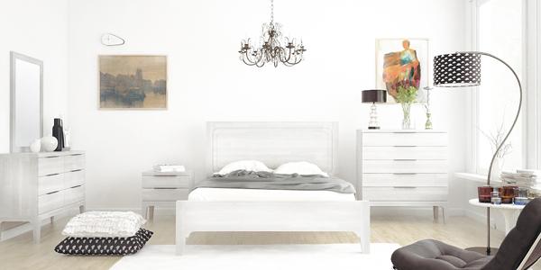 חדר שינה מעץ מלא דגם נאש