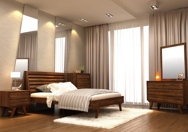 חדר שינה מעץ מלא דגם סיירה